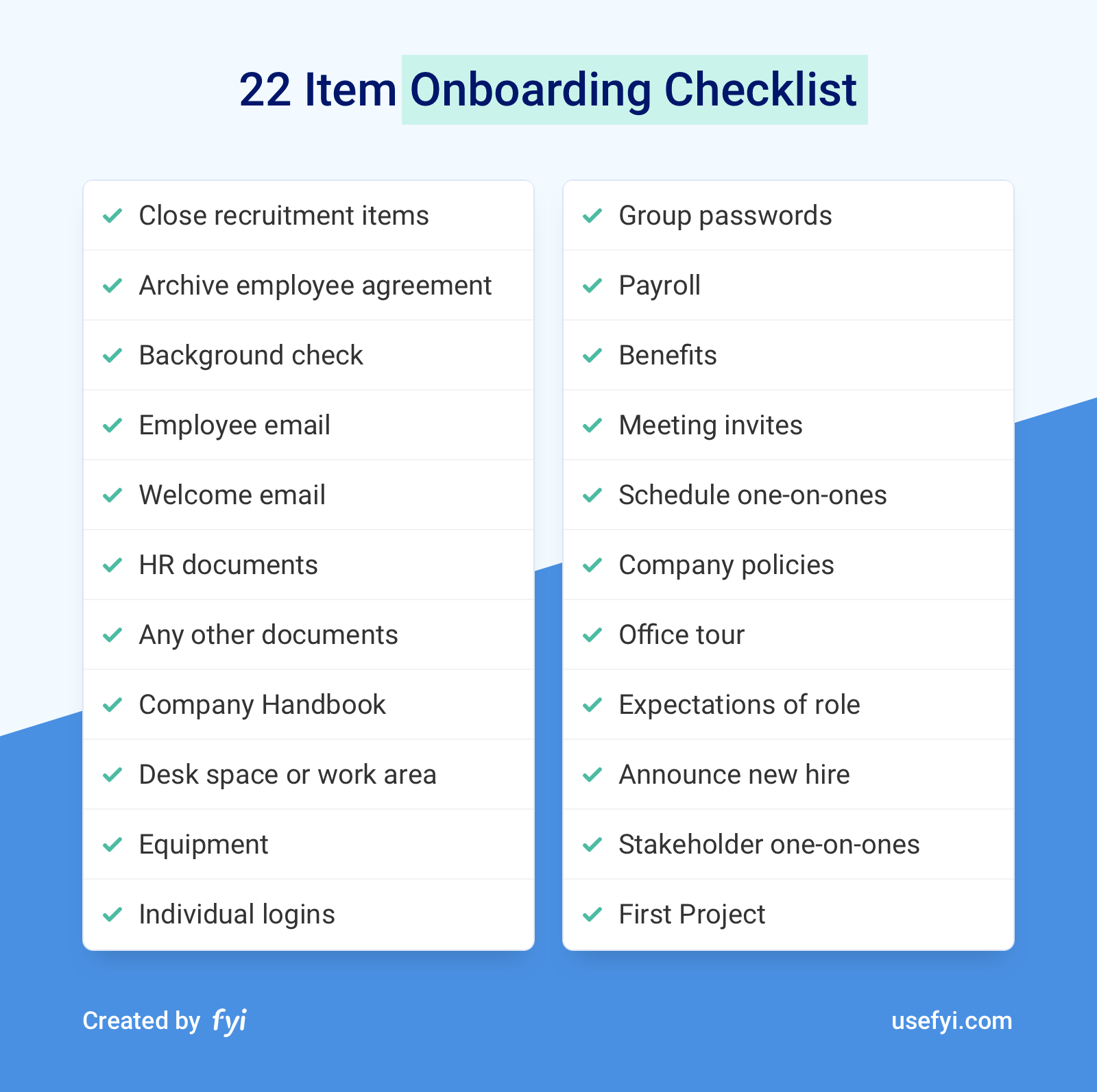 The 22 Item Onboarding Checklist to Get Great Work From New