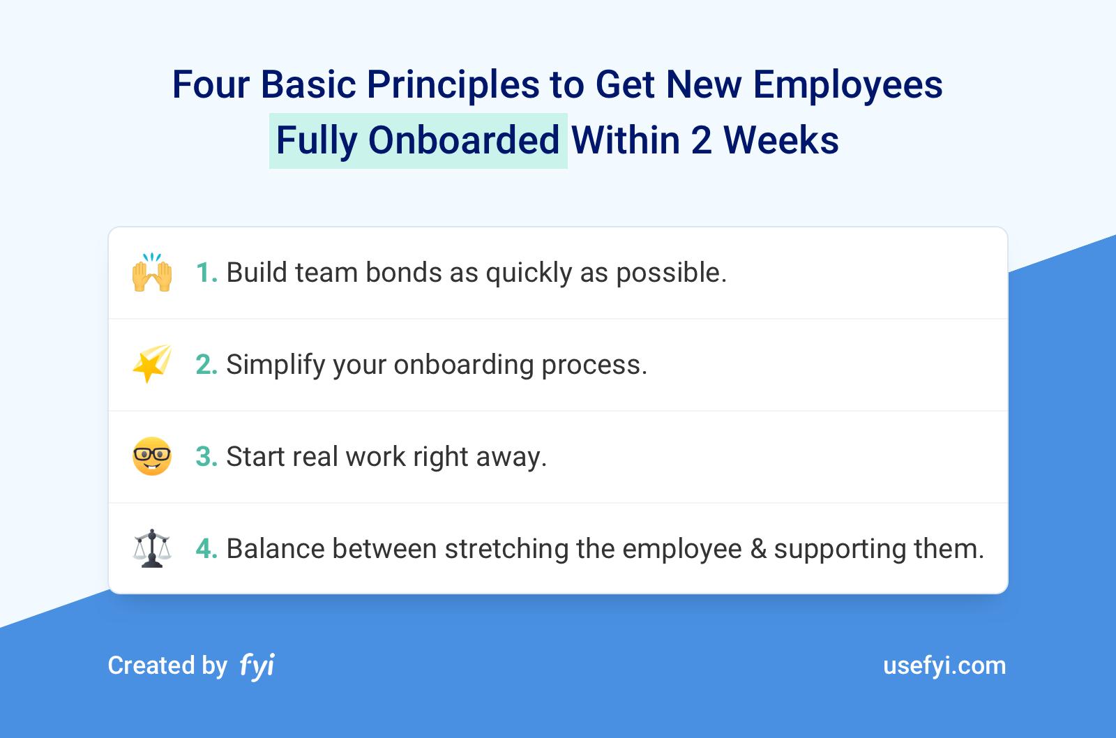 4 Principles of Onboarding
