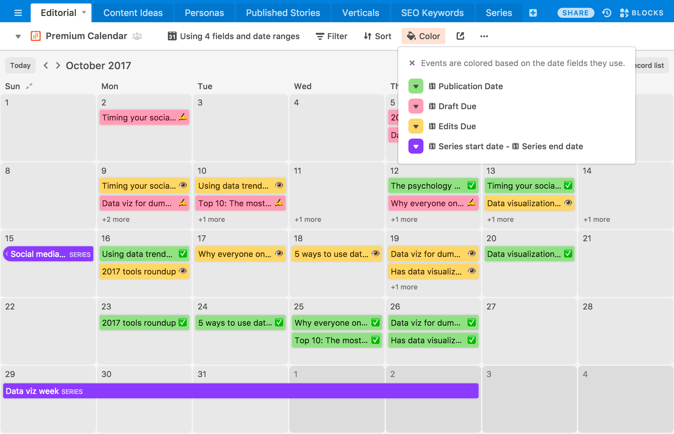 airtable calendar