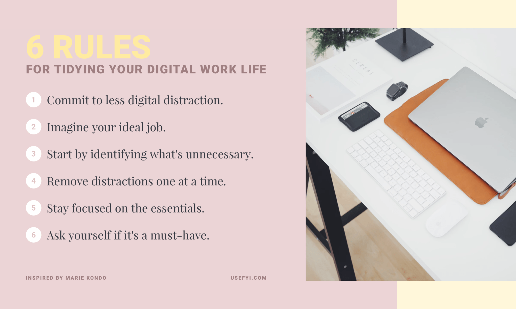 6 rules for tidying up your digital work life