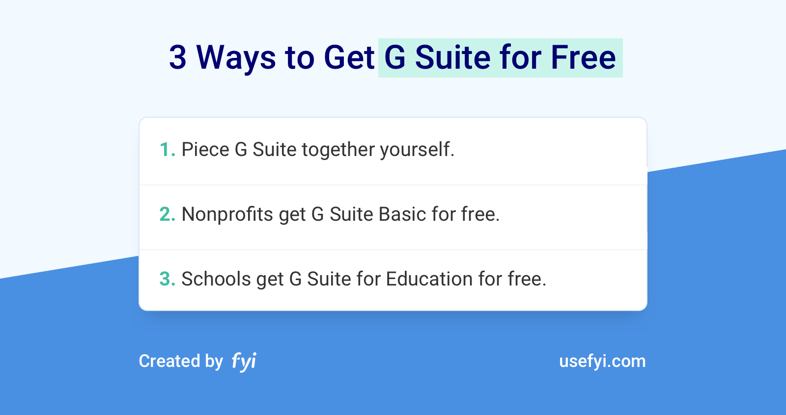 G Suite For Free