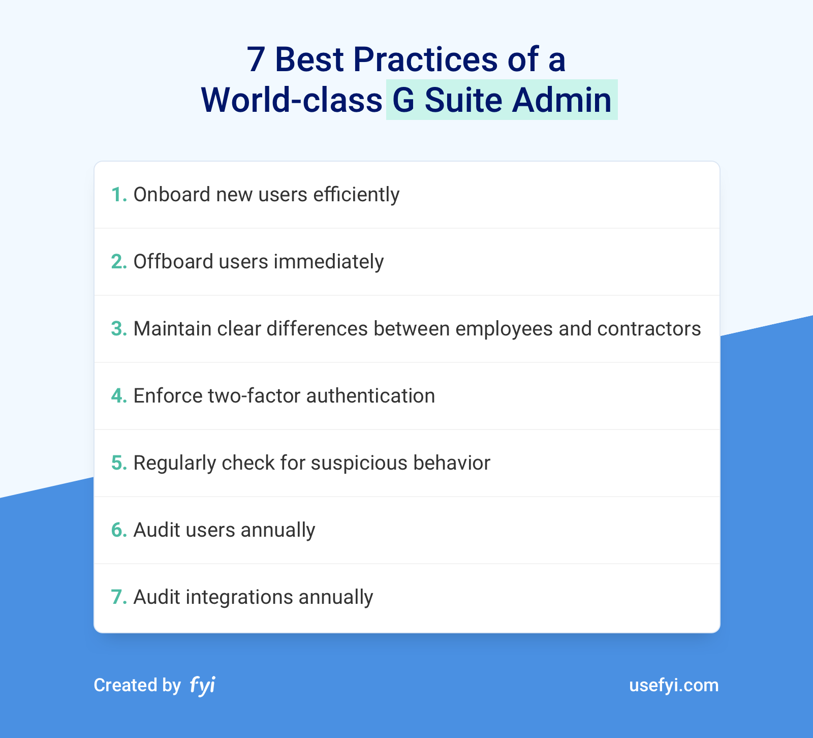 G Suite Admin Best Practices