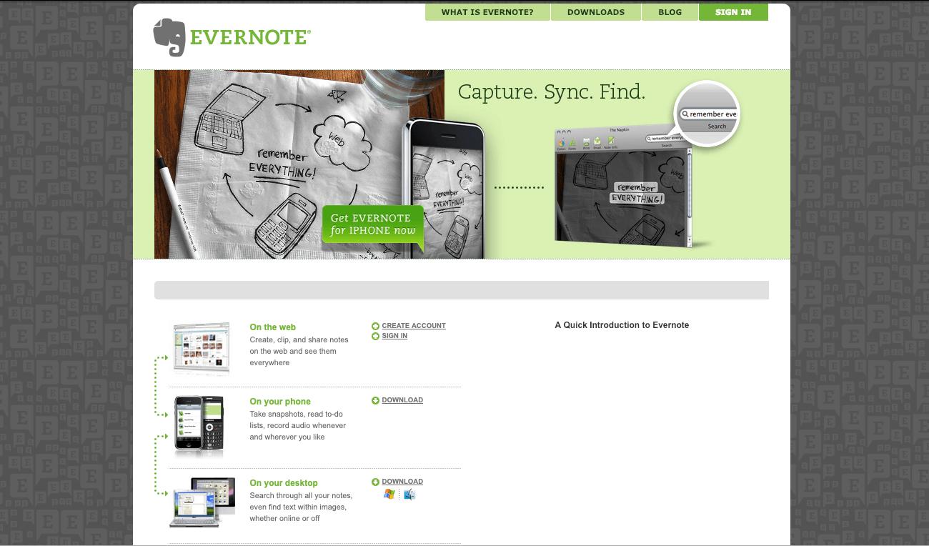 Evernote 2008