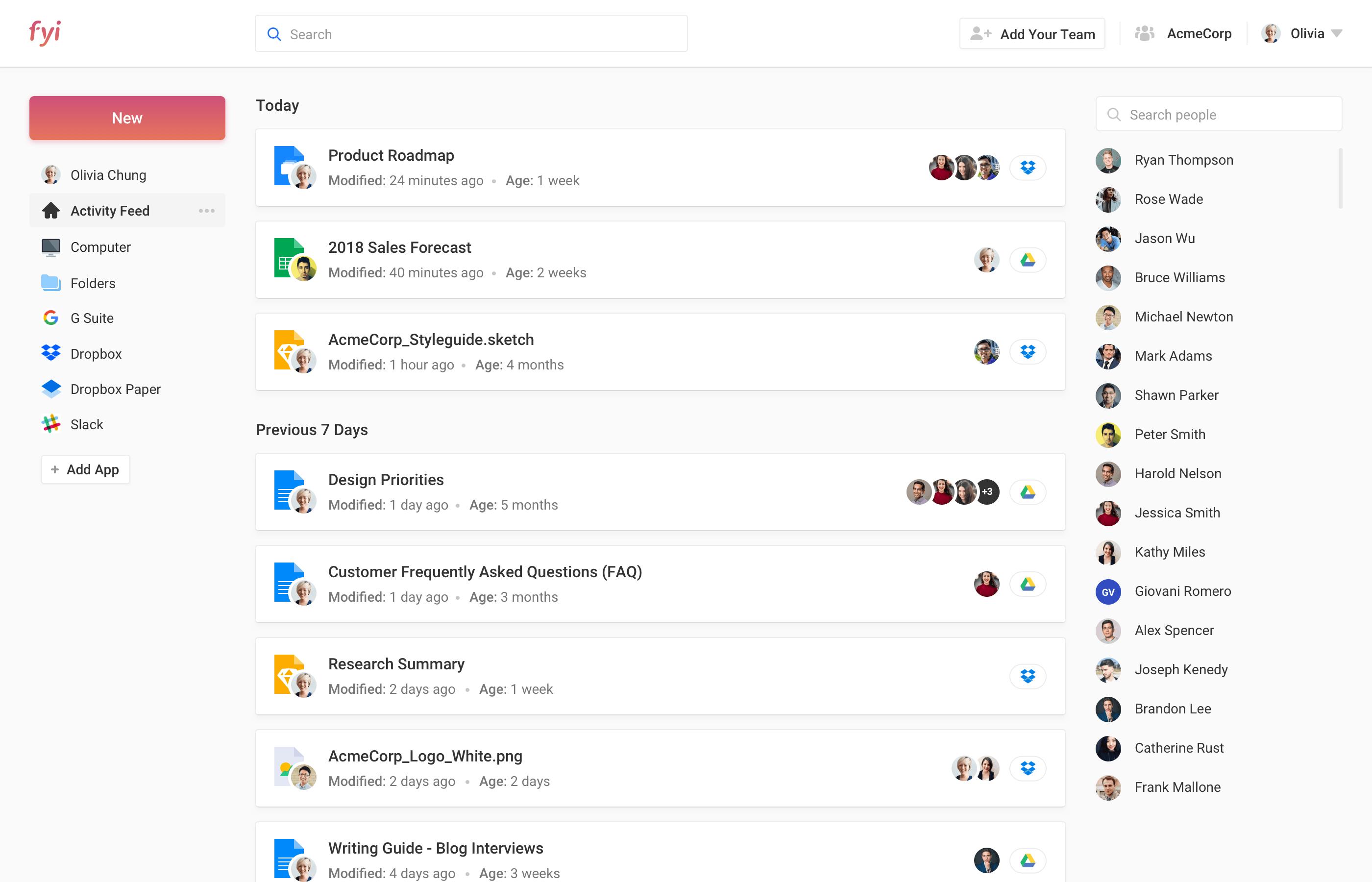fyi interface