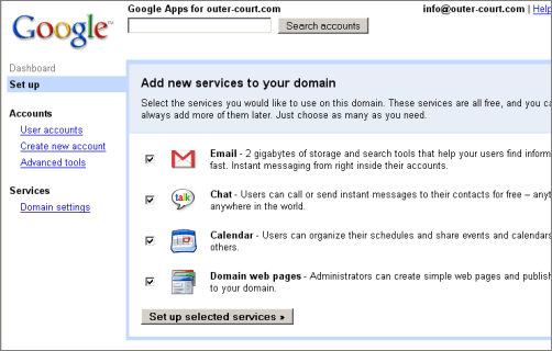 Google Apps for your Domain
