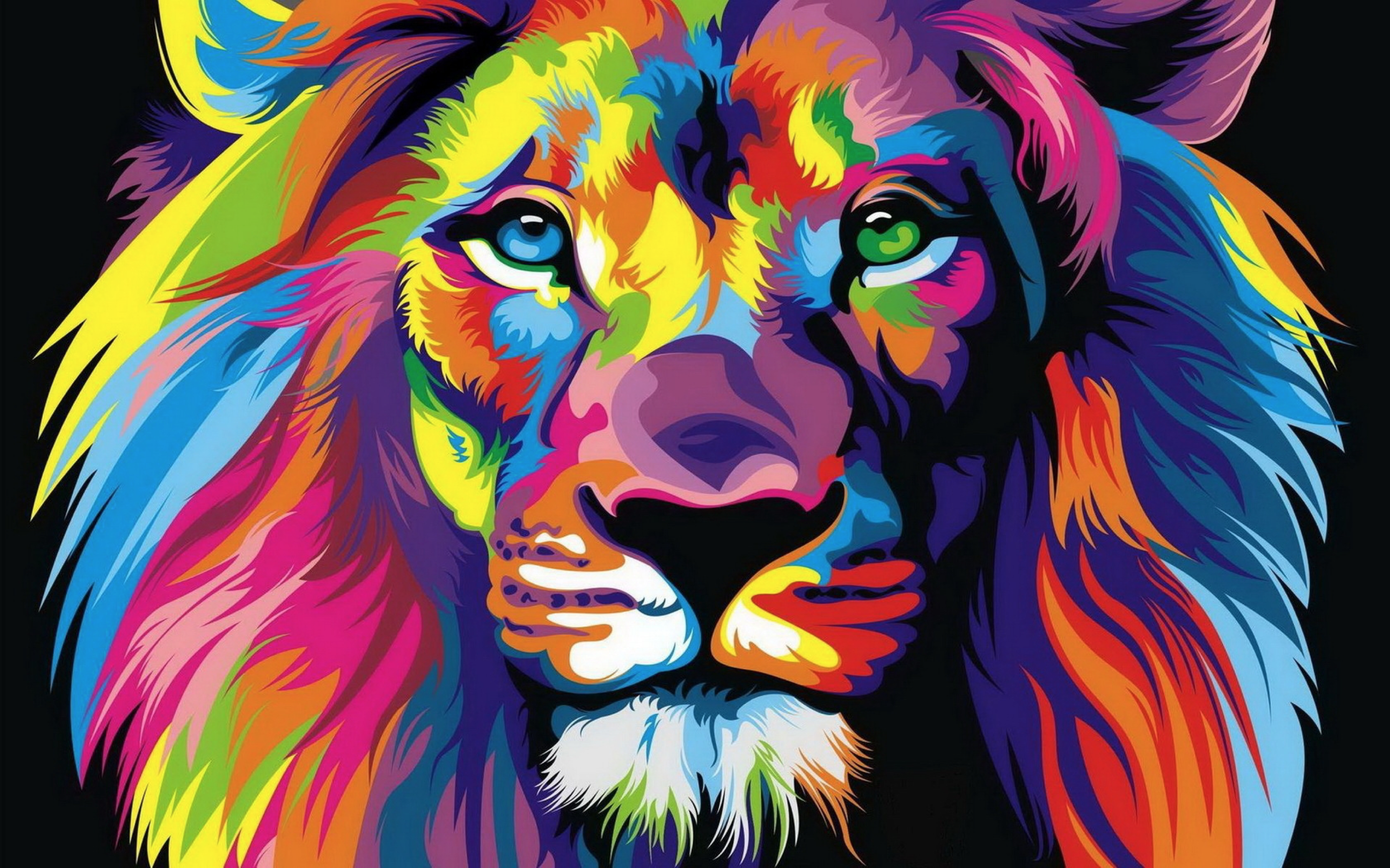 Psychedelic lion