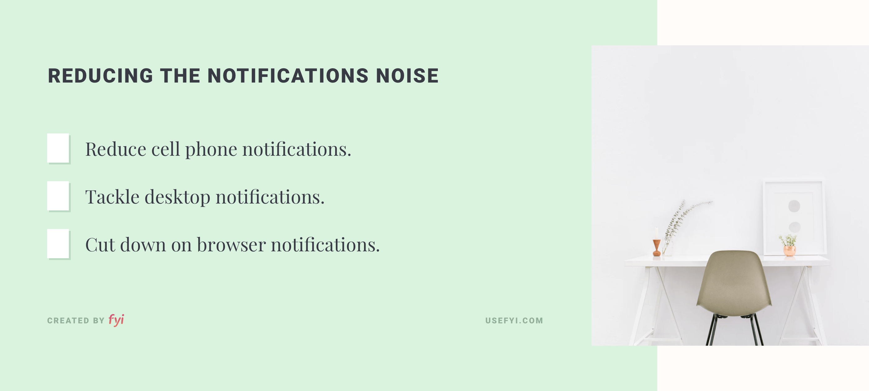 Reducing the notifications noise