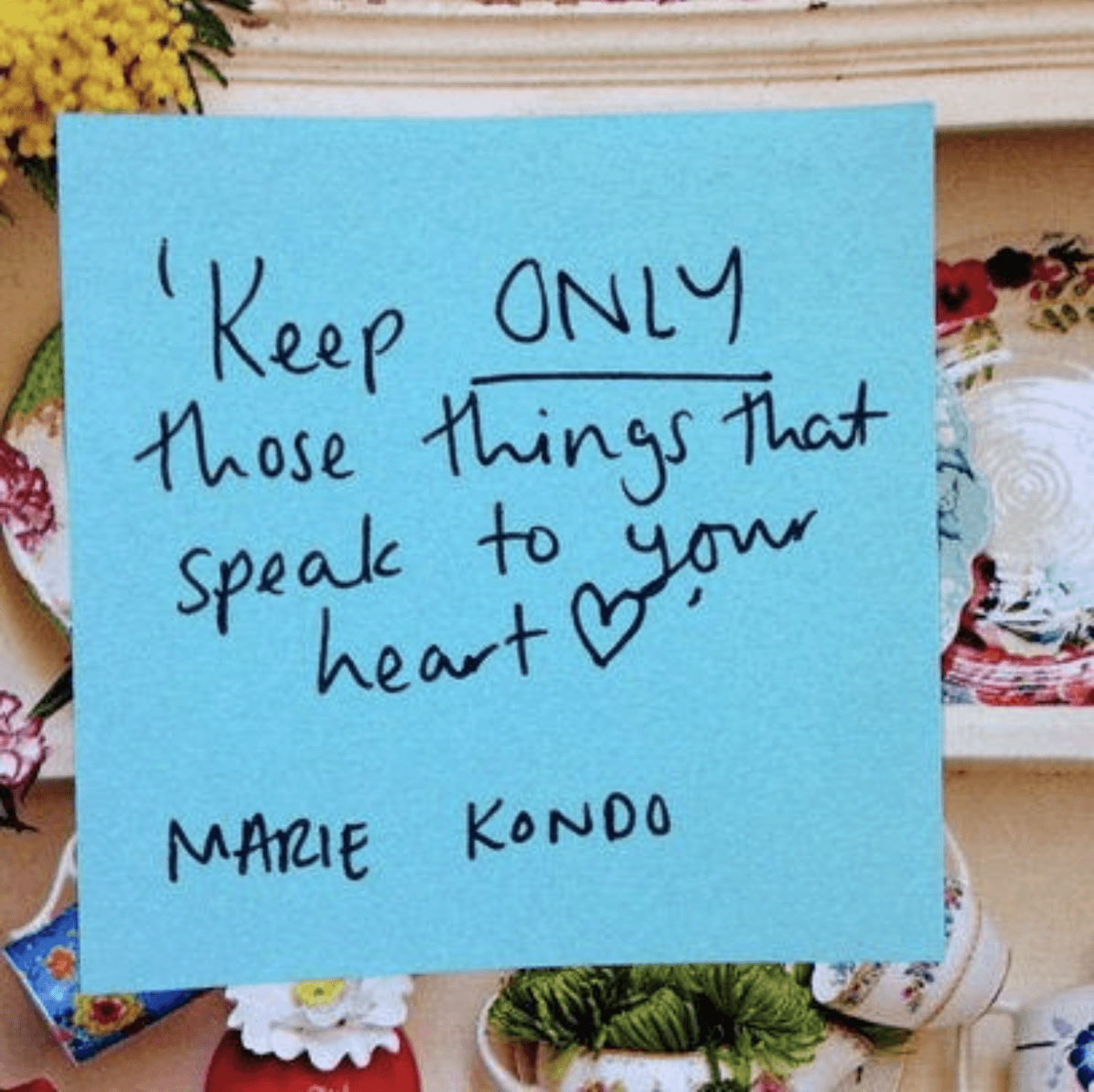 Speak to your heart