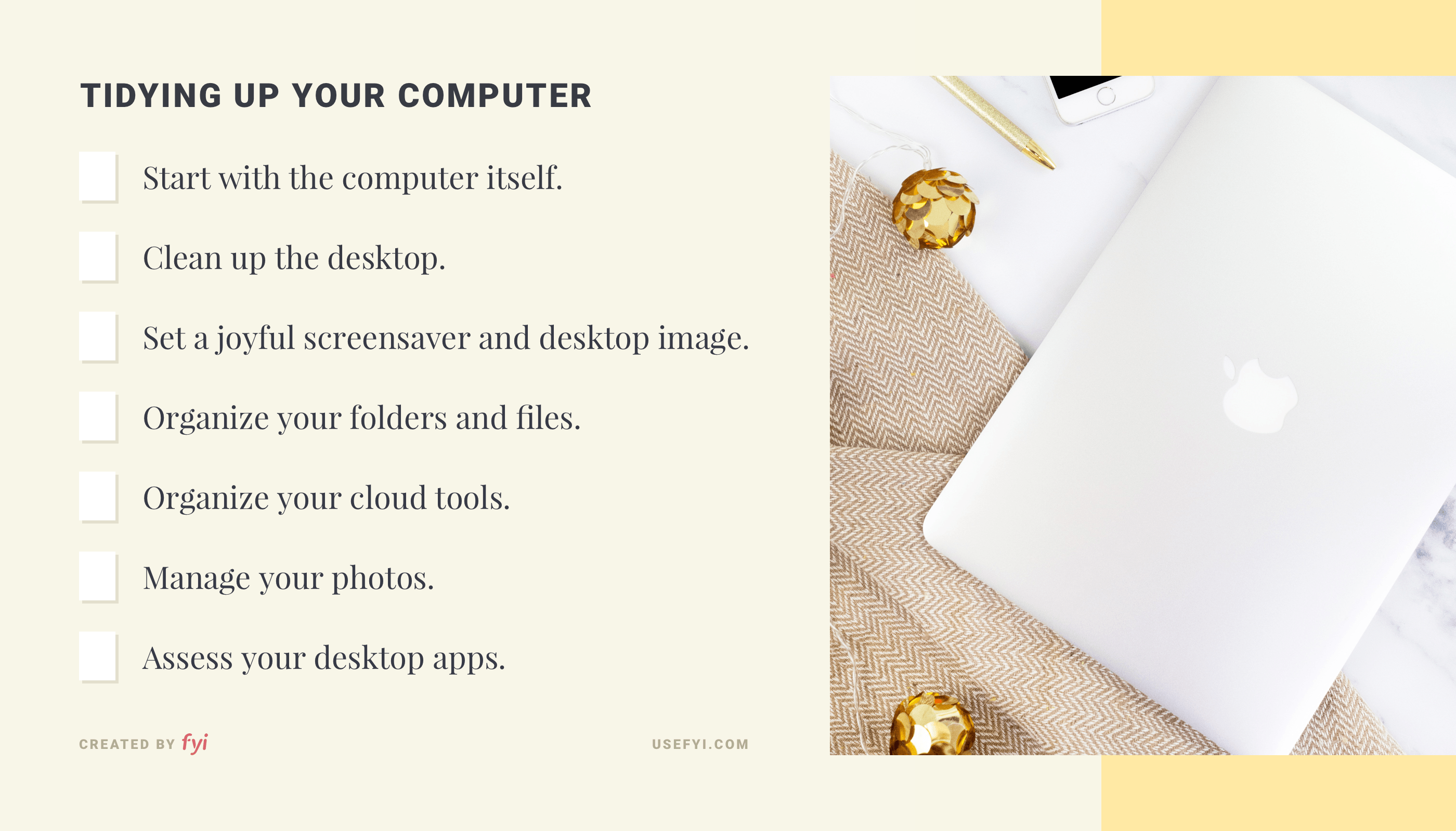 Tidying up your computer
