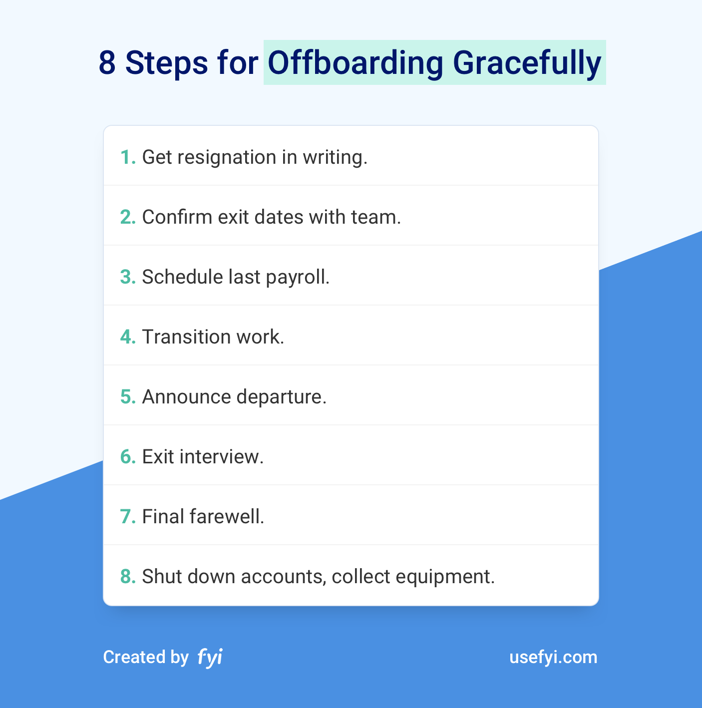 8 Steps to Offboarding