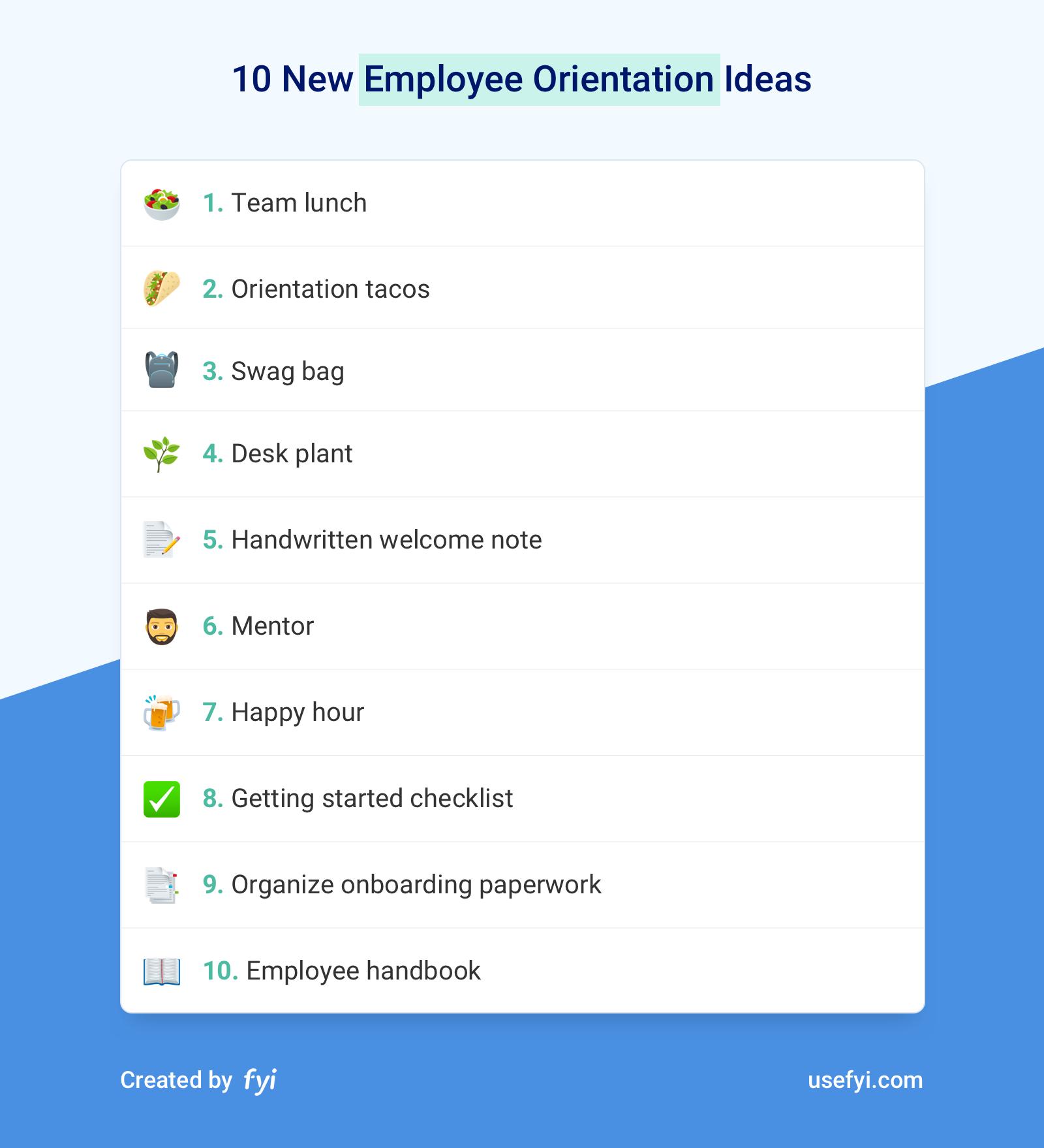 New Employee Orientation Ideas