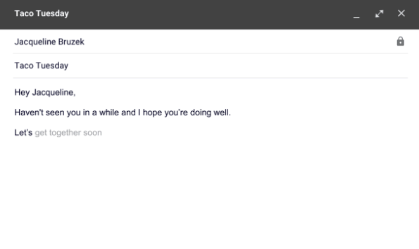 Gmail Autodraft