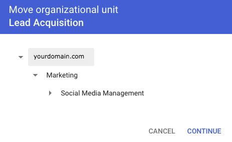Move Organizational Unit