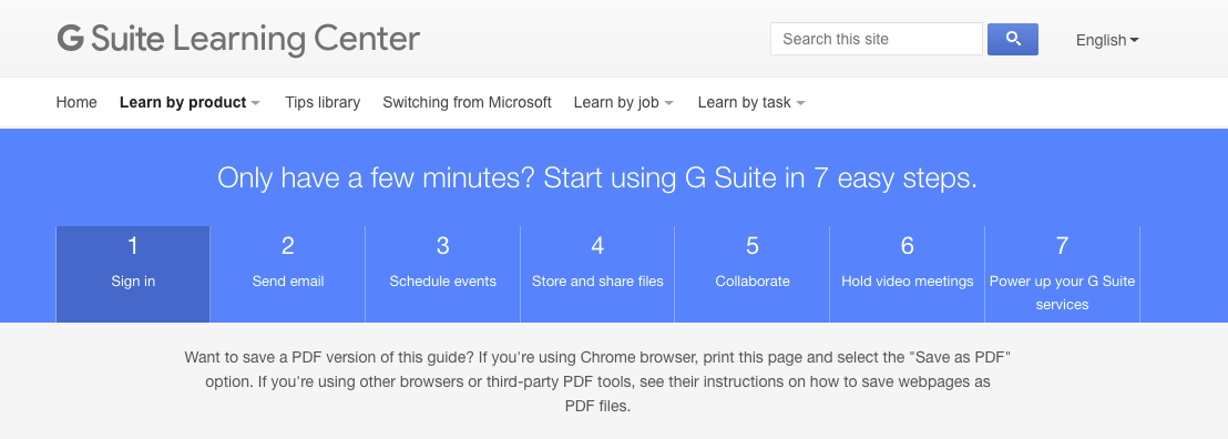 G Suite Quick Start Guide