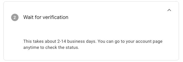 Google for Nonprofits - Wait for Verification
