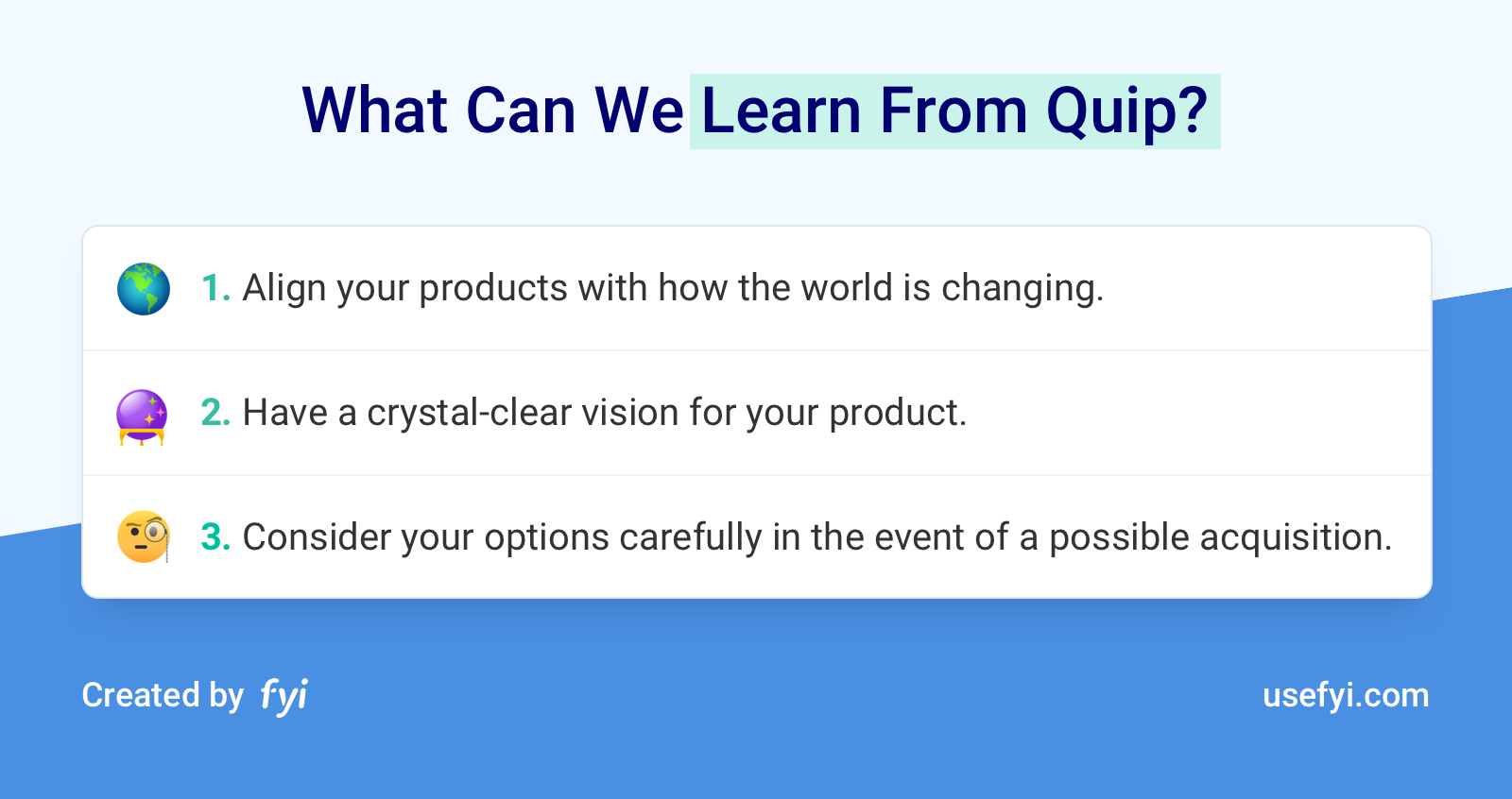 Learn from Quip