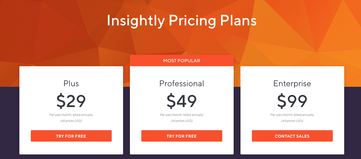 Insightly pricing