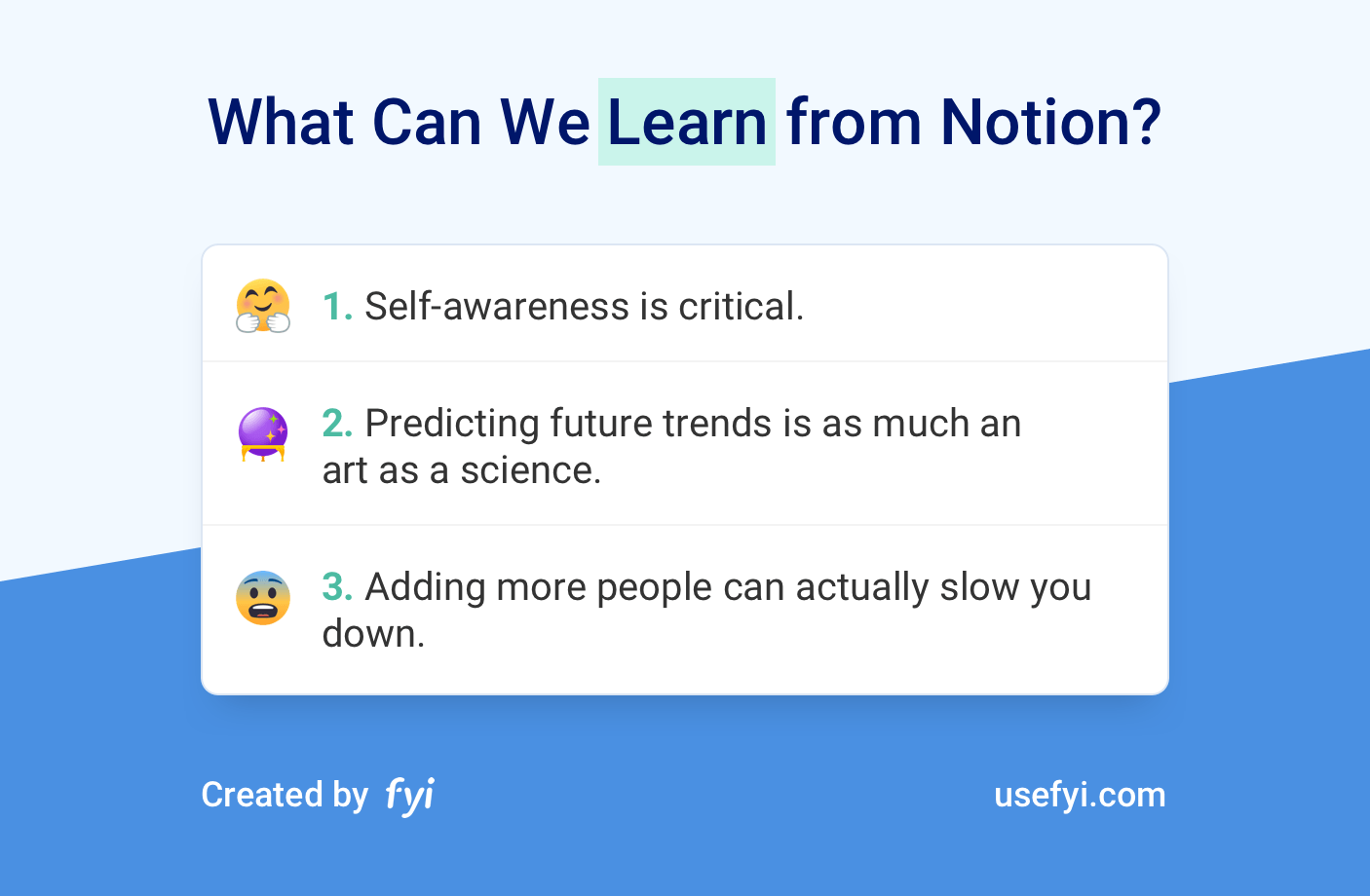 Learnings from Notion