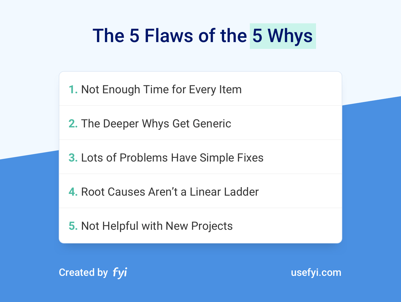 5 Flaws of the 5 Whys