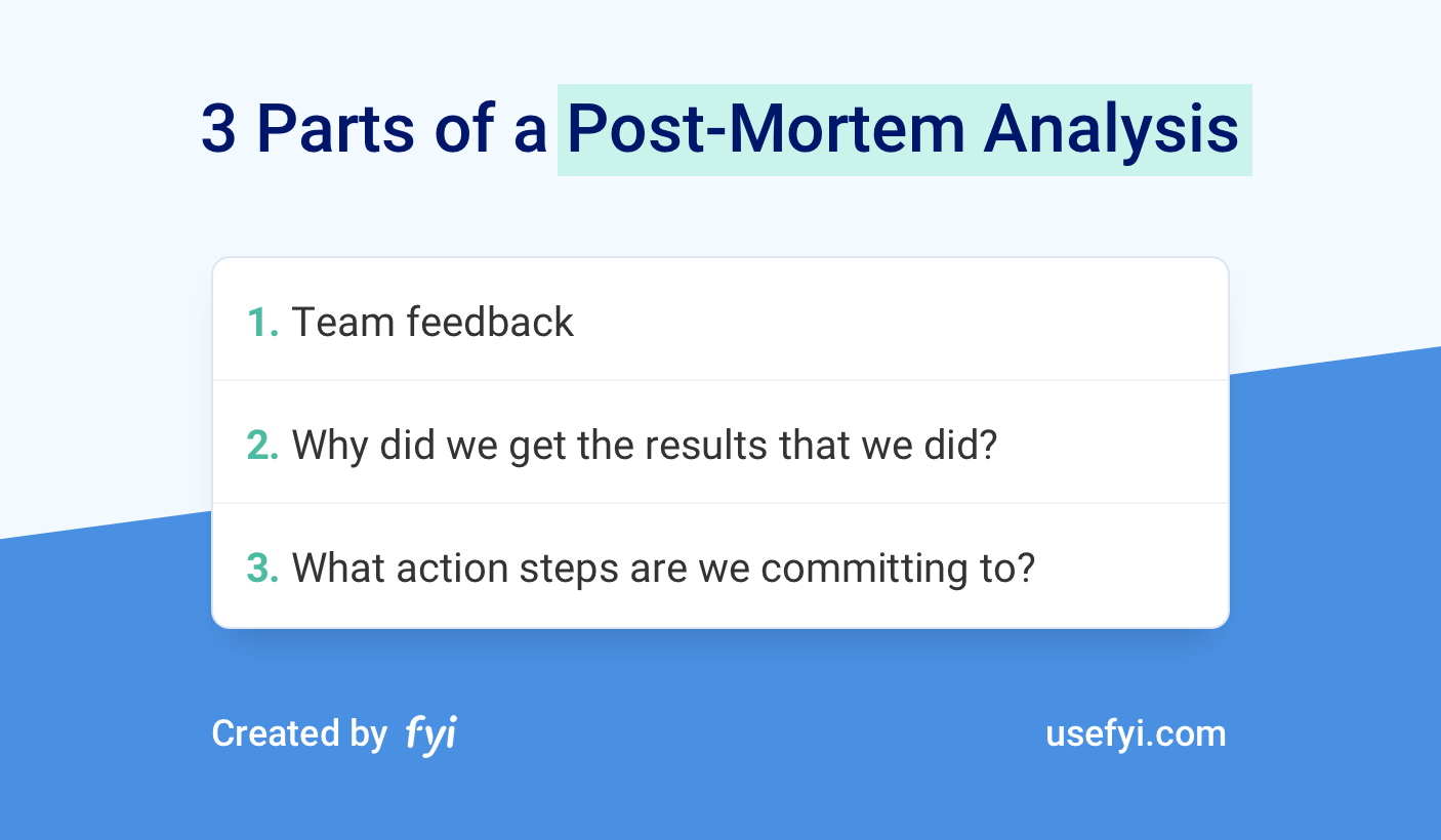 3 Parts of a Post-Mortem Analysis