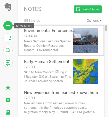 Evernote Desktop Notetaking