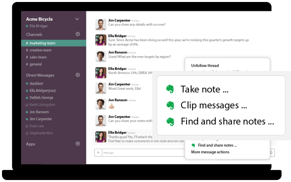 Evernote Slack Integration