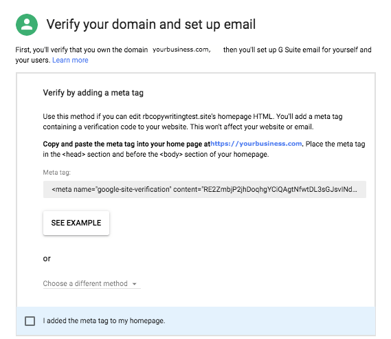 Domain verification 1