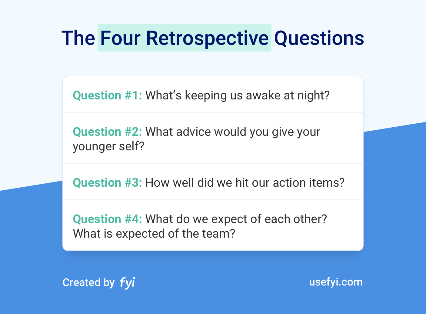 Four Retrospective Questions