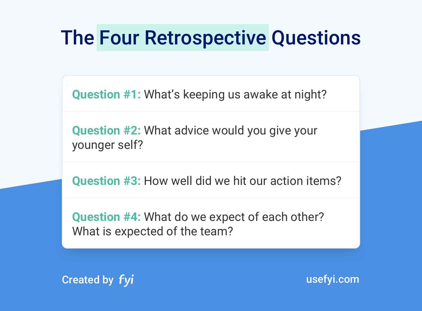 Four Retrospective Questions