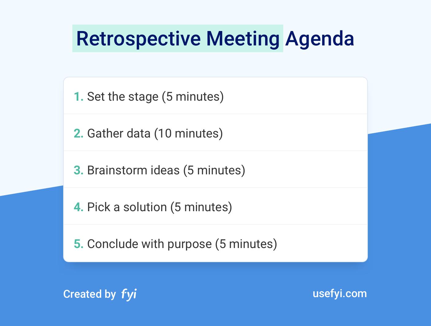 Retrospective Agenda