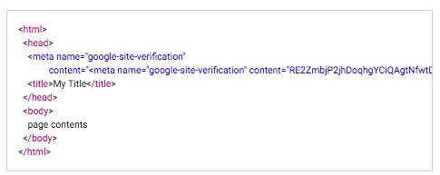 Verify domain code example