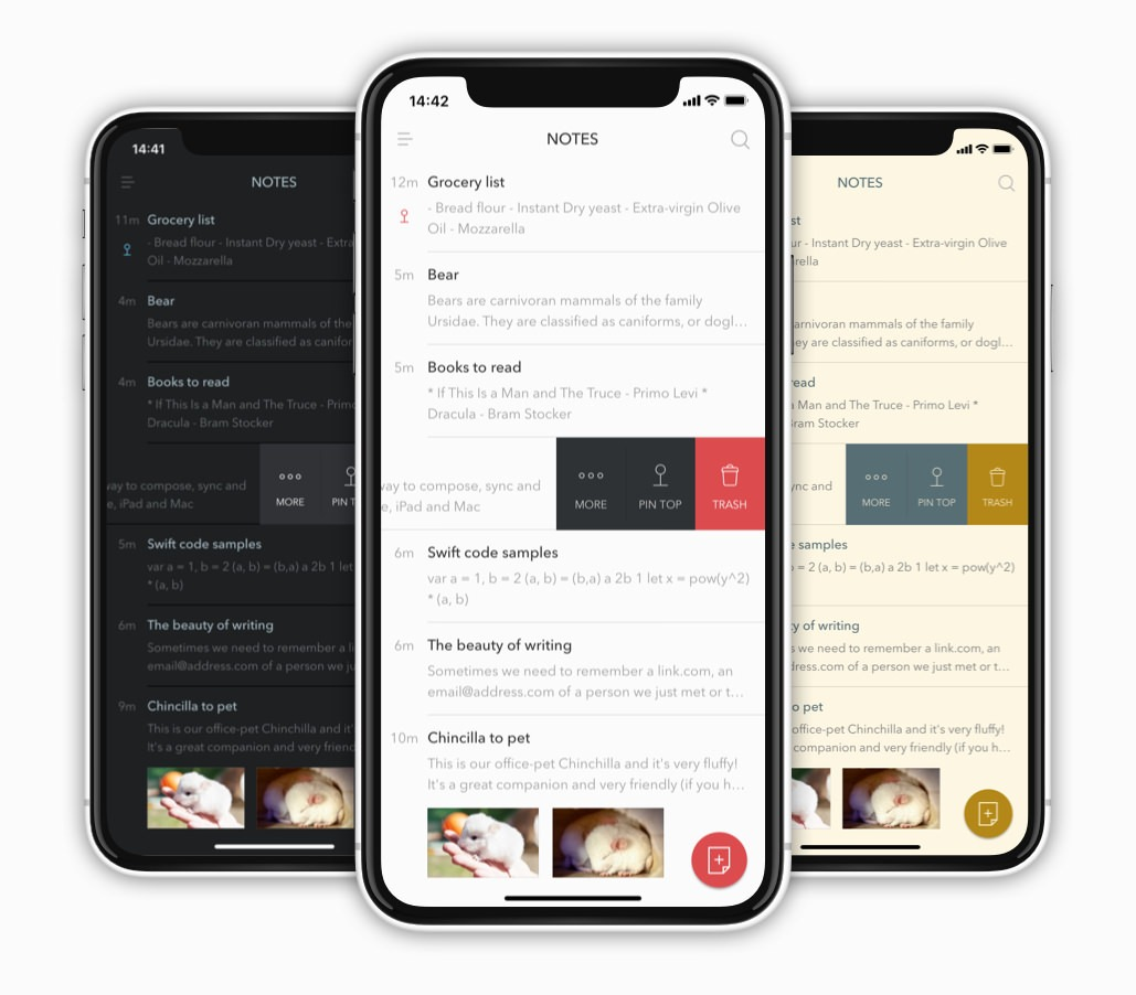 Bear iOS App Interface
