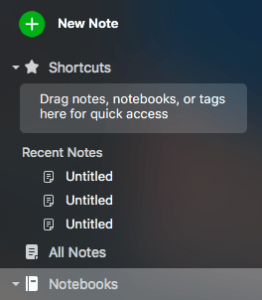 Evernote Create New Note Desktop