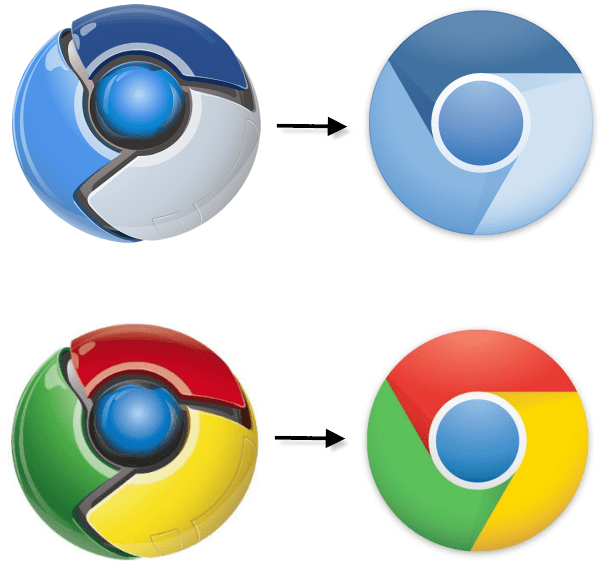 Google Chrome logos