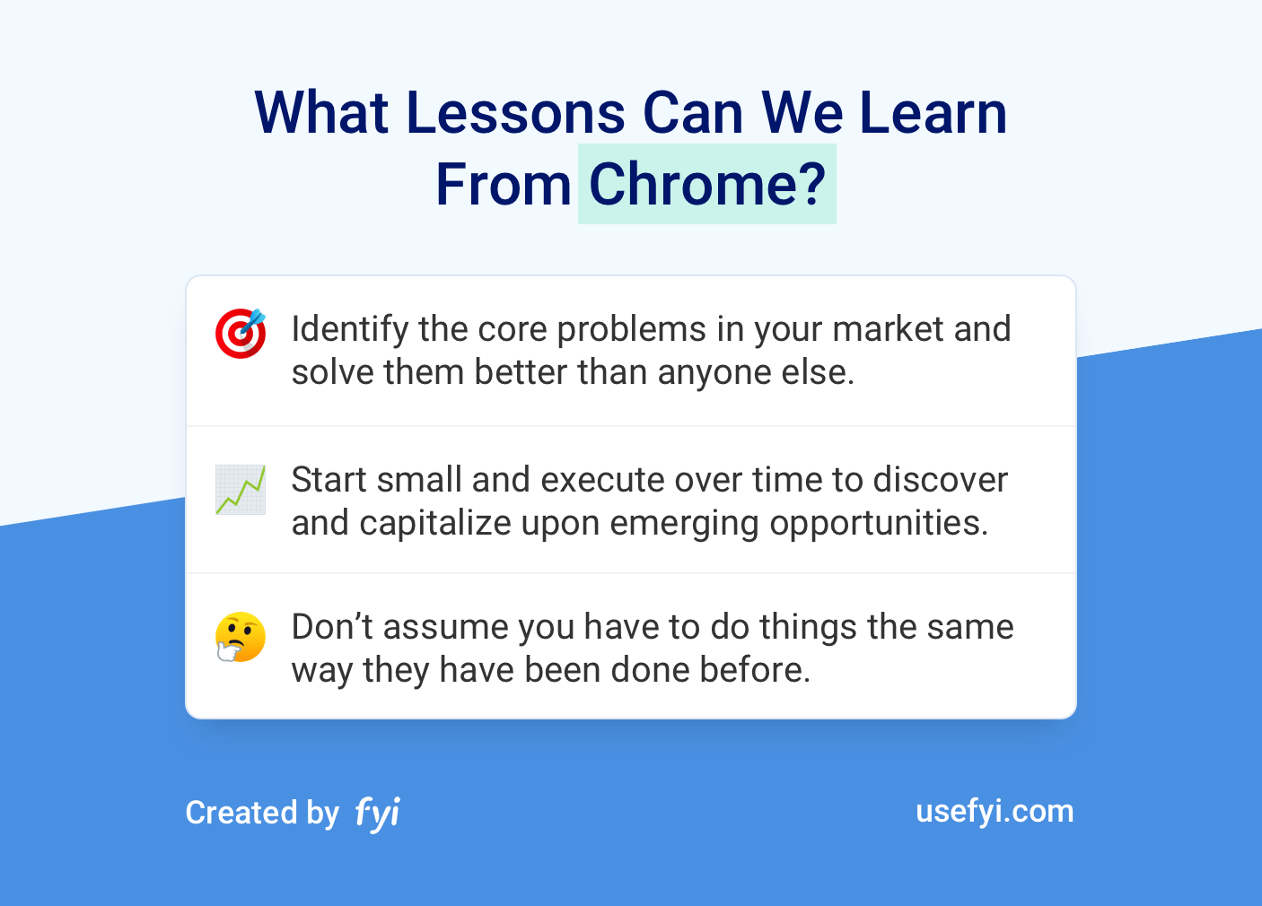 Lessons from Chrome