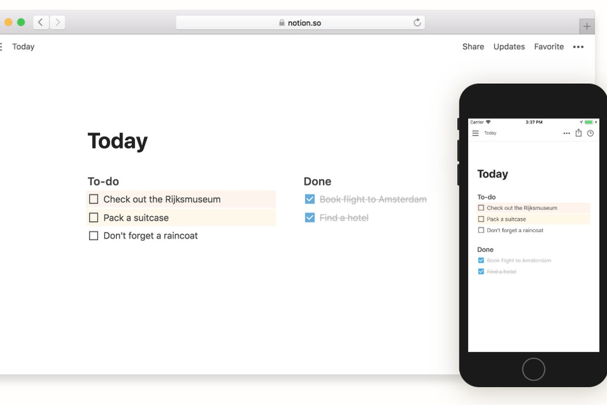 Notion App Workspace Overview
