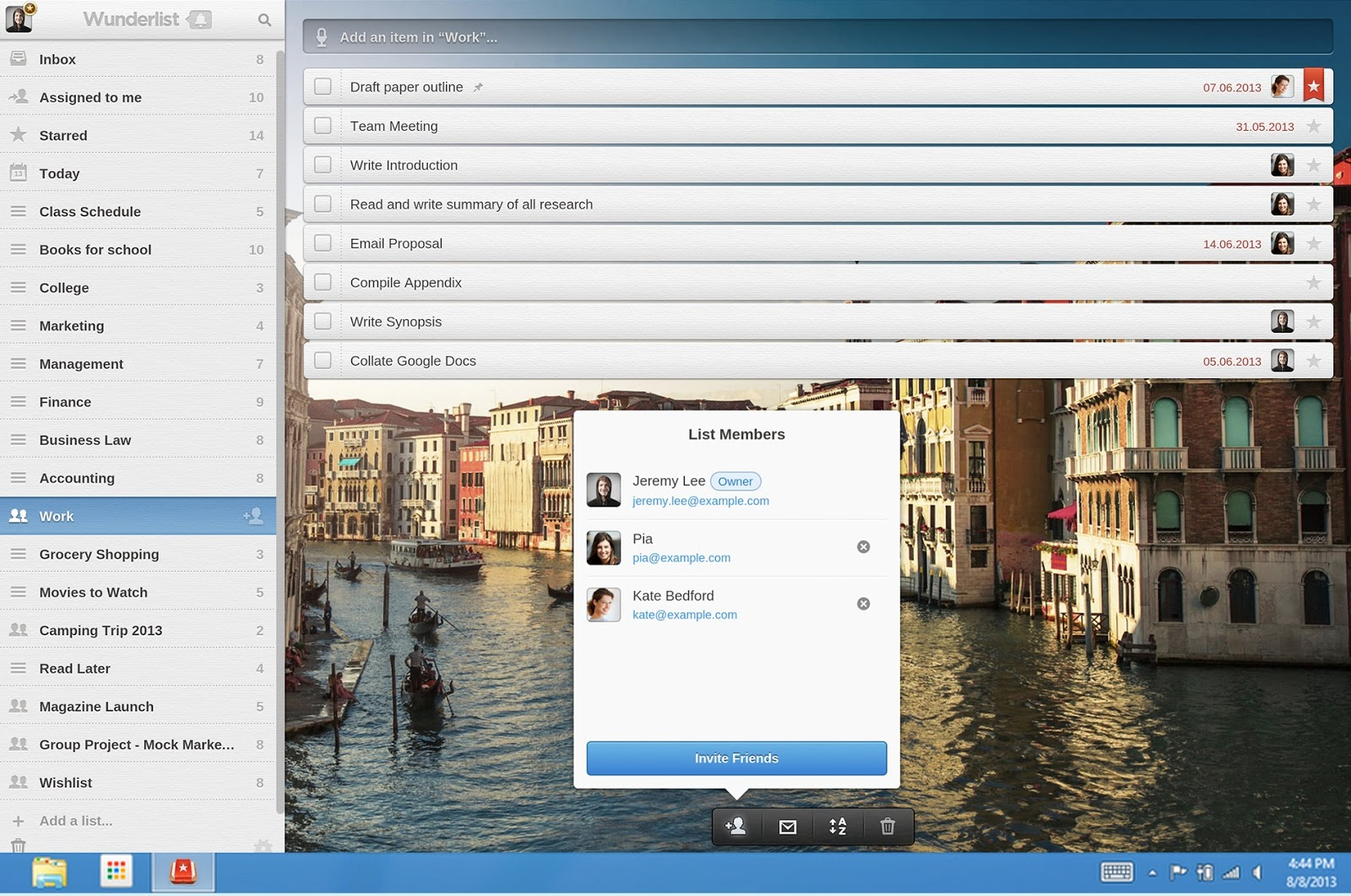 Wunderlist Chrome App