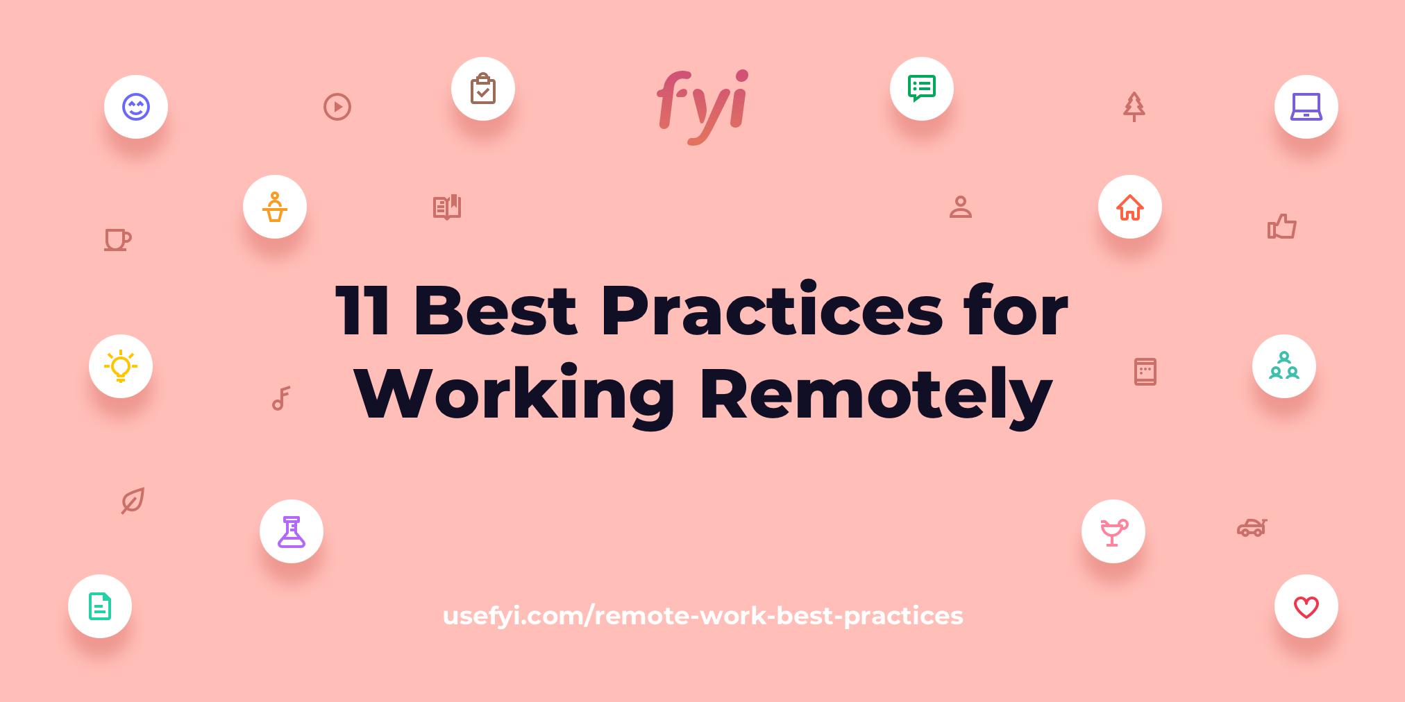 remote work best practices title