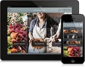 Evernote Food UI Tablet and Mobile