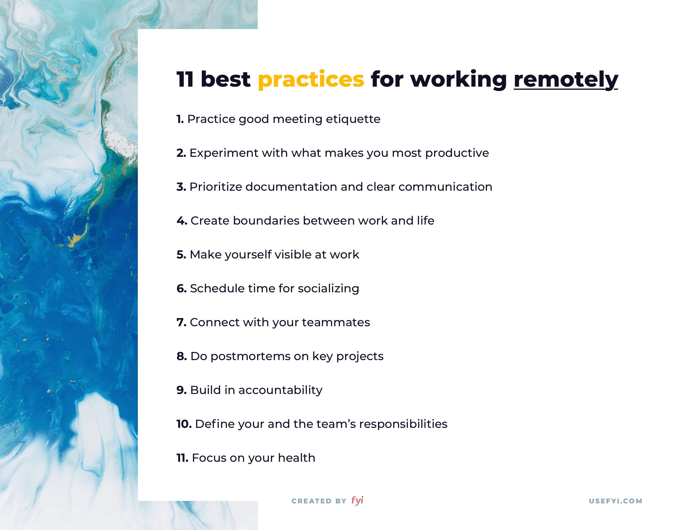 remote work best practices