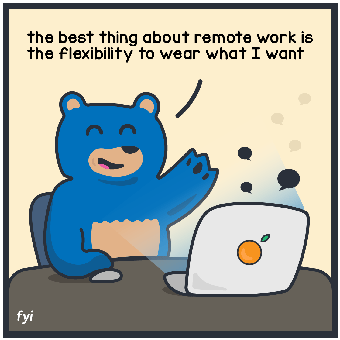 remote work cartoon