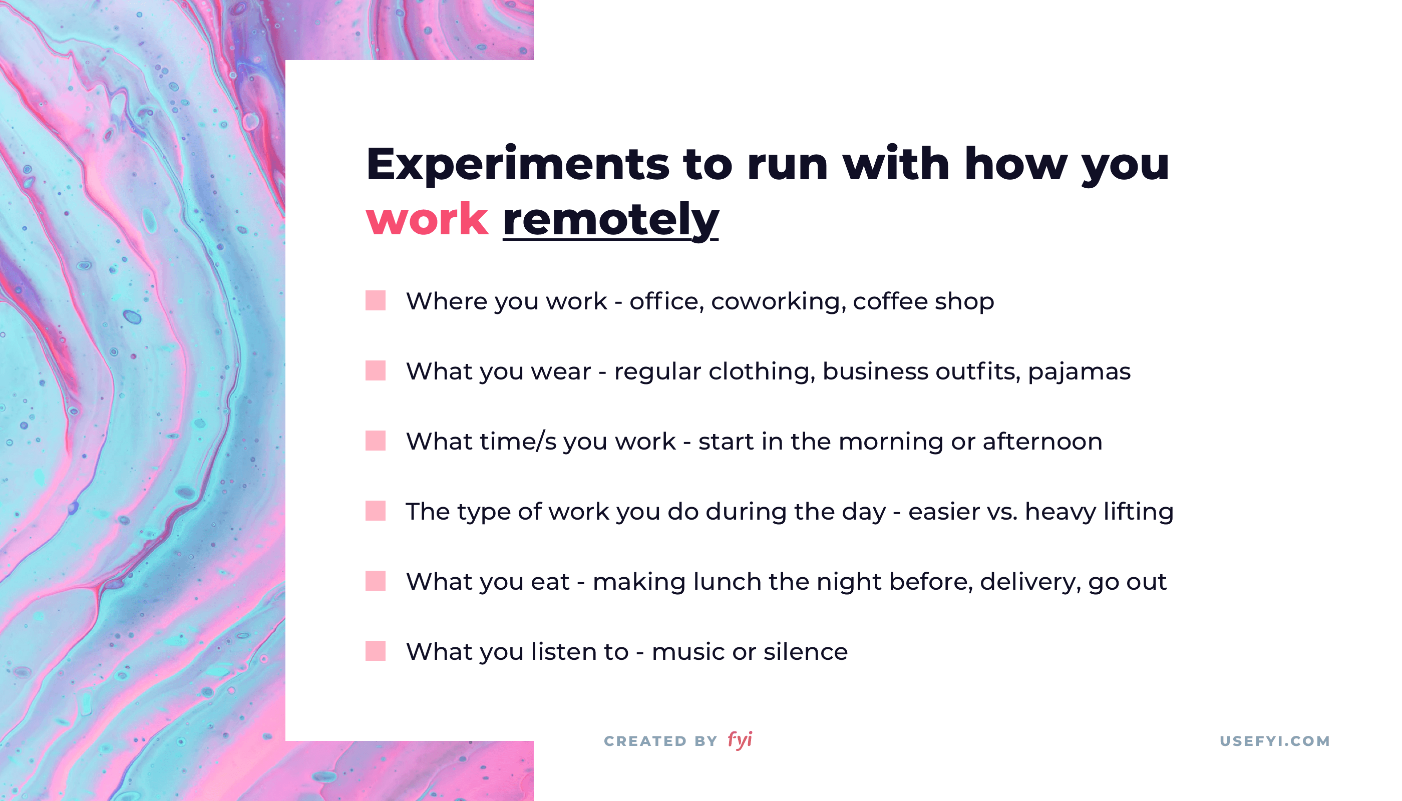 remote work experiments