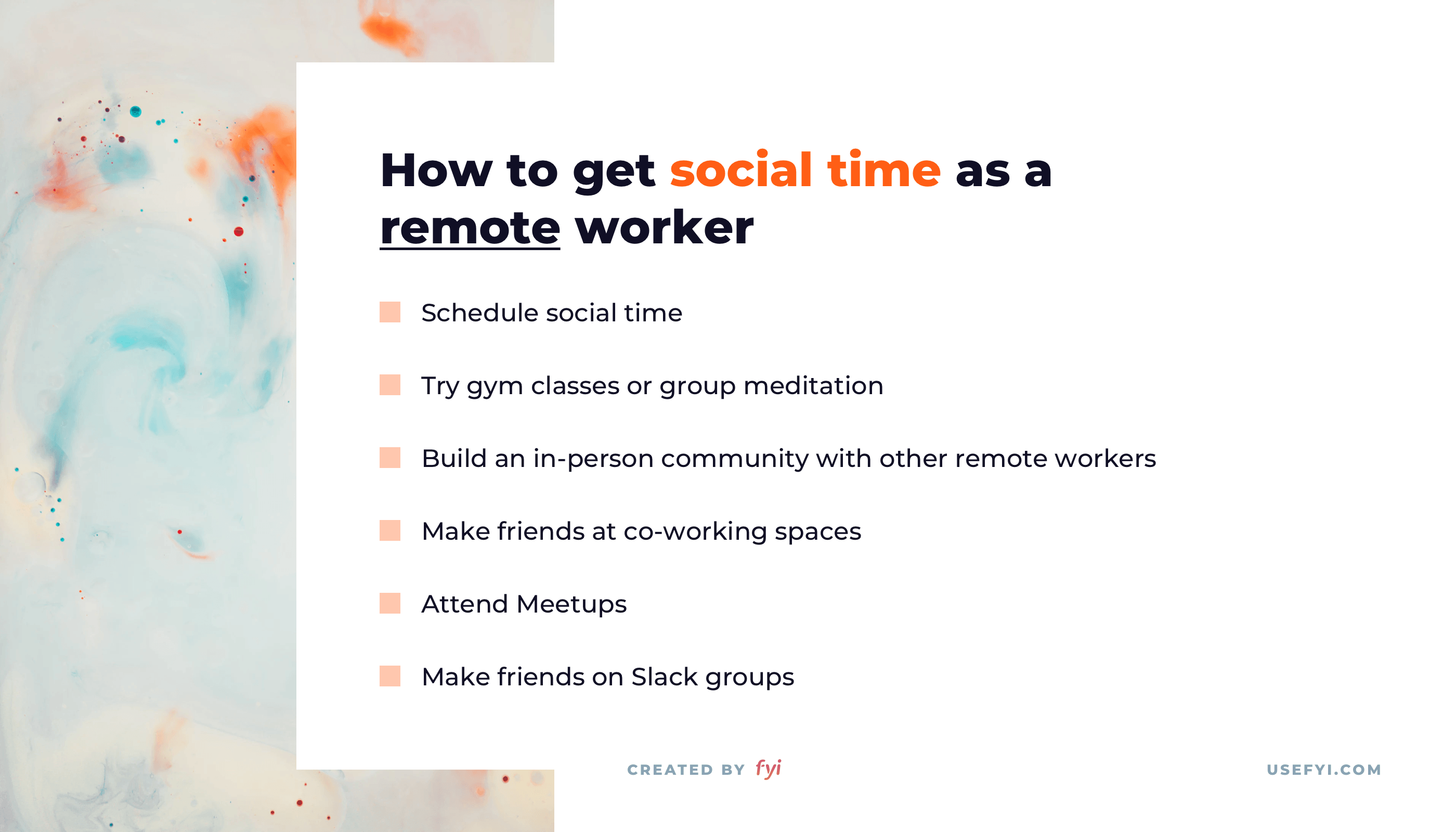 remote work social time