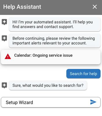 G Suite Help Assistant Setup Wizard