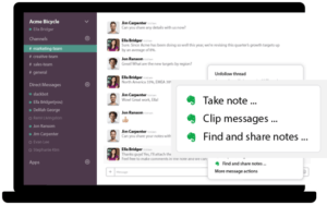 evernote premium slack integration
