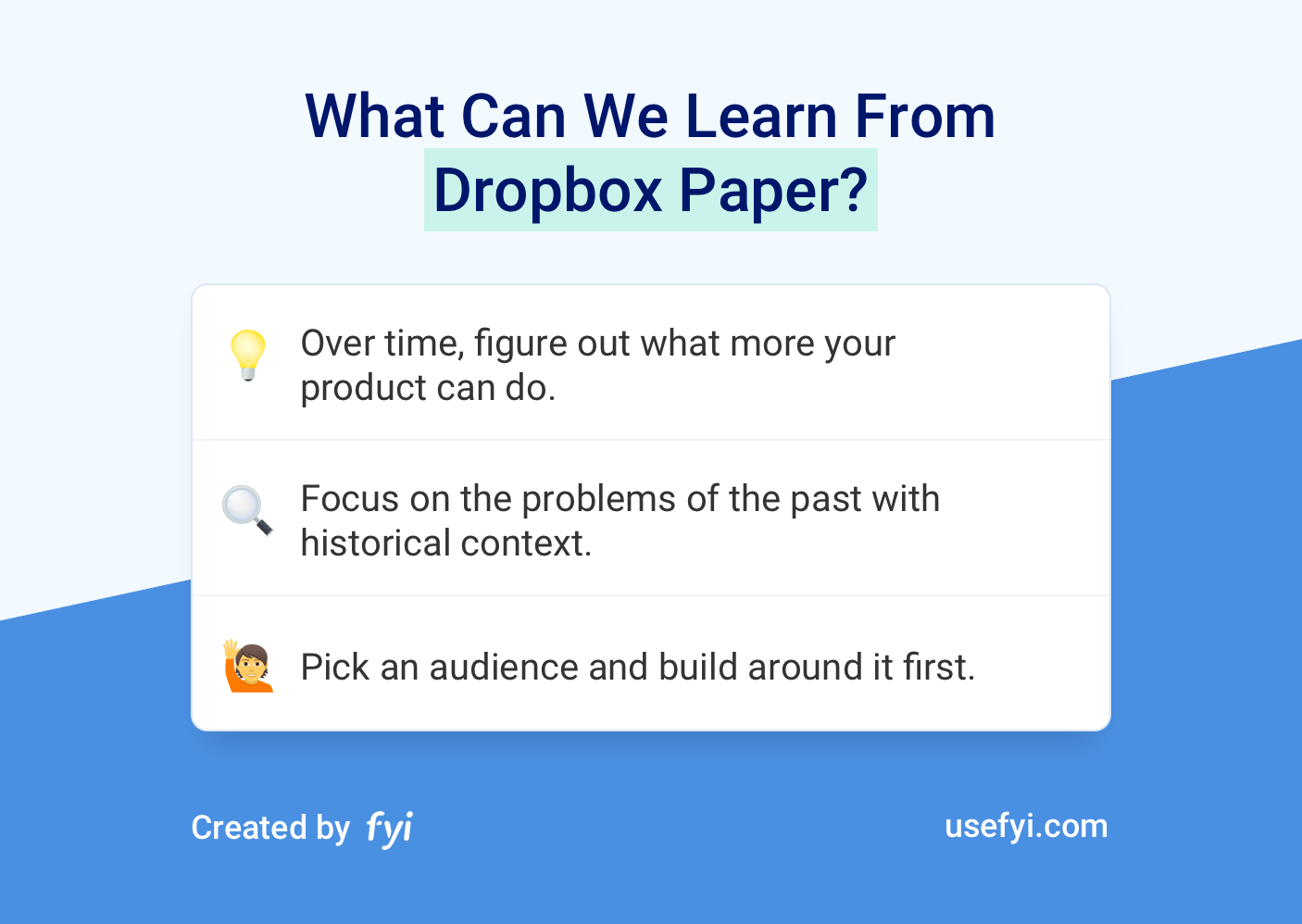 Dropbox Paper learnings