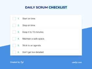 daily scrum checklist