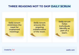 three reasons not to skip daily scrum