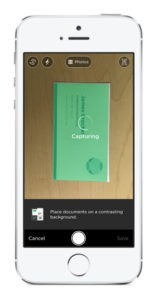 evernote android scan business card