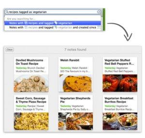 evernote recipes screenshot
